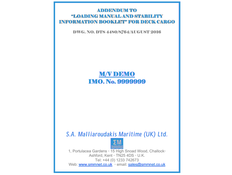 S A  Malliaroudakis Maritime (UK) Ltd - Multiload, Emergency, Crew